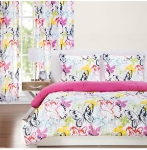 Crayola Flutterby 6 Piece Queen Luxury Duvet Set Bedding
