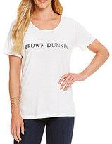 "Heritage Brown-Dunkin"" Logo Tee"