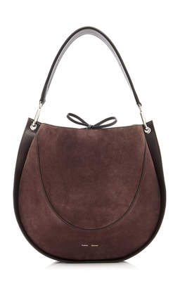 Proenza Schouler Large Leather And Suede Hobo Shoulder Bag