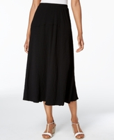 Alfred Dunner Petite Lace It Up A-Line Midi Skirt