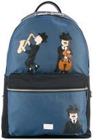 Dolce & Gabbana Volcano Sicilian musician's patch backpack - men - Polypropylene/Leather - One Size
