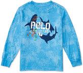 Ralph Lauren Graphic-Print Long-Sleeve T-Shirt, Toddler & Little Boys (2T-7)