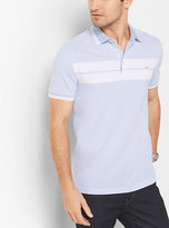 Michael Kors Greenwich Striped Cotton Polo Shirt