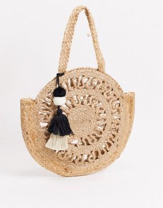 Pieces jute round bag