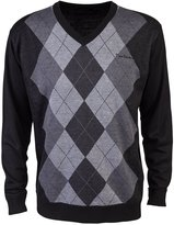 Pierre Cardin Mens New Season V-Neck Argyle Knitted Jumper