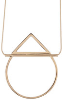Trina Turk Open Geometric Pendant Necklace