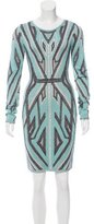 Herve Leger Jacquard Mini Dress