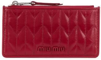 Miu Miu Matelassé zip purse