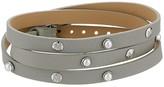 Majorica Isla Leather Wrap Bracelet (Black Leather) Bracelet