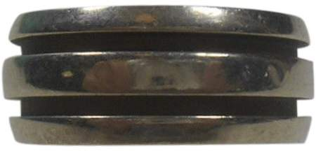 Tiffany & Co. .925 Sterling Silver Atlas Groove Stripe Ring Size 7