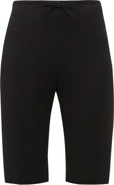 Miu Miu Bow-embellished Cady Cyclin Shorts - Black