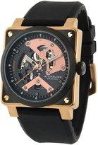 Stuhrling Original Men's Sportsman 'Raven Diablo' Automatic Watch 179A.334641
