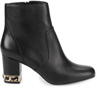 Karl Lagerfeld Paris Sonia Embellished Leather Booties