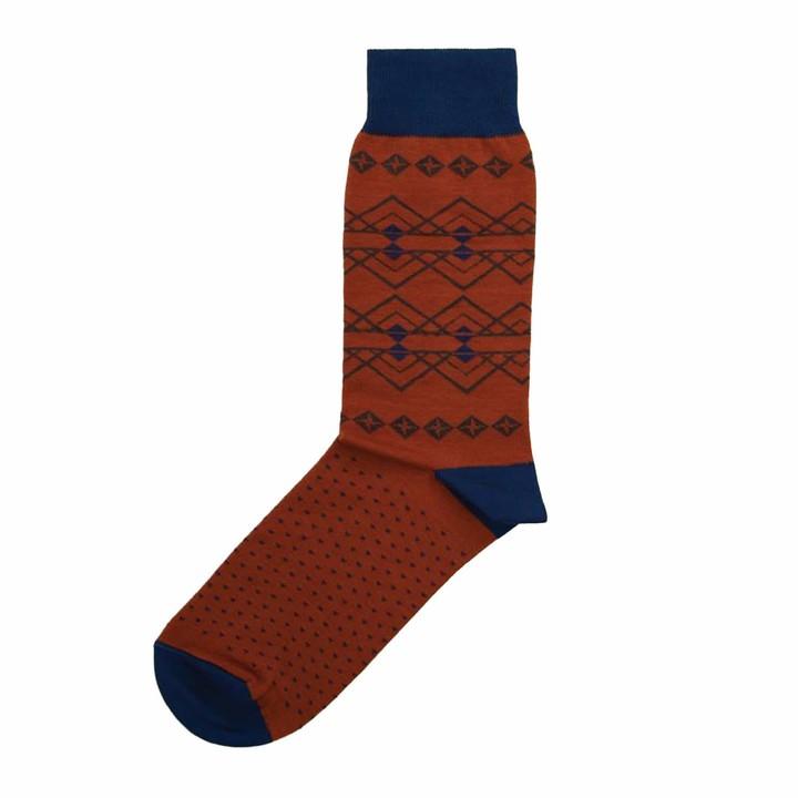 The Tie Bar Fair Isle Cotton Blend Socks
