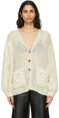 Loewe Off-White Mohair Anagram Sweater