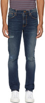 Nudie Jeans Indigo Distressed Lean Dean Jeans