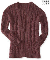 Aeropostale Womens Cape Juby Open Front Cable Cardigan