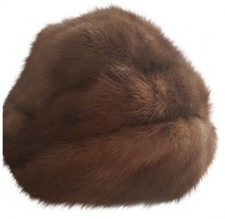 Guy Laroche Brown Mink Hats