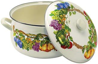 Tabletops Unlimited Kensington Garden Porcelain Enamel 8 Qt Covered Casserole