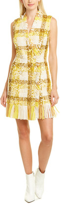 Elisabetta Franchi Sequin Fringe Mini Dress