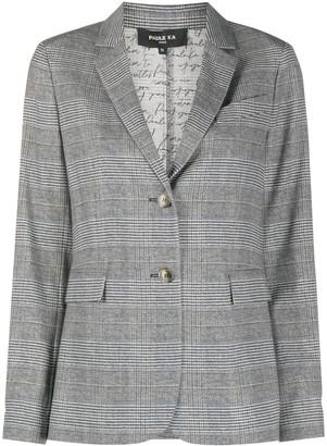 Paule Ka Plaid Wool Blazer