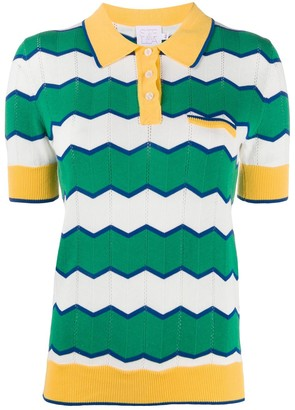 Stella Jean Striped Knitted Polo Shirt