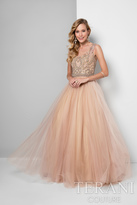 Terani Prom - Charming Sleeveless Illusion Neck Polyester A-Line Gown 1711P2876