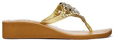 Yellow Box Lynda Rhinestone Flip Flops