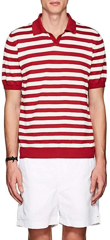 Barneys New York Men's Striped Cotton-Blend Polo Shirt