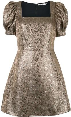 Alice + Olivia Brocade Pattern Mini Dress