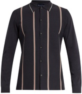Lanvin Striped wool and cotton-blend shirt