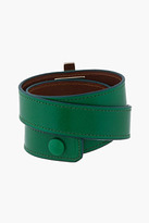 Givenchy Green leather Obsedia triple-Wrap Bracelet