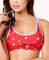 California Waves Juniors' Americana Keyhole Bikini Top, Created for Macy's