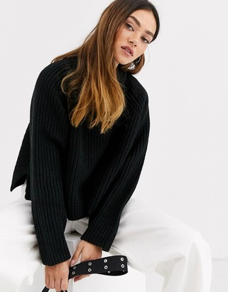 Weekday Cassandra sweater in black