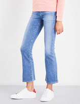 Citizens of Humanity Ladies Pacifica Concealed Zip Fleetwood Slim-Fit High-Rise Flare Jeans