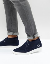 Fred Perry Shields Mid Waxed Cotton Sneakers