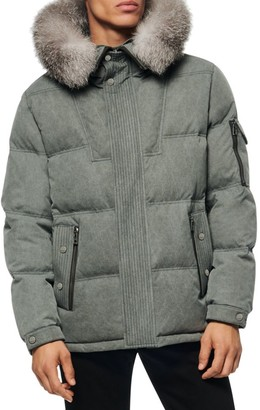 Andrew Marc Koriabo Regular-Fit Fox Fur-Trim Puffer Coat