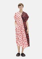Simone Rocha Short Sleeve Patchwork Crepe Dress Pink/Black Size: UK 8