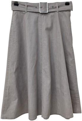 ICB Grey Cotton Skirt for Women