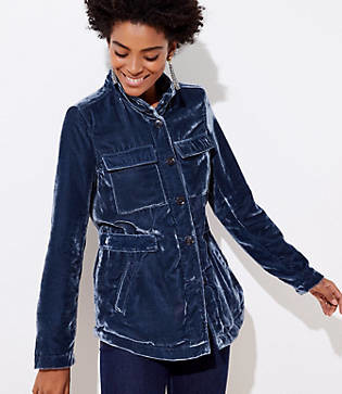 LOFT Velvet Utility Jacket