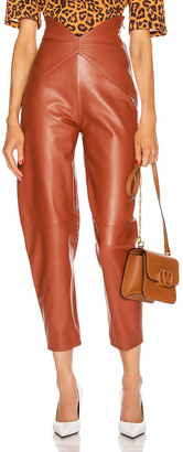 ATTICO Leather Butterfly Carrot Pant in Cognac | FWRD