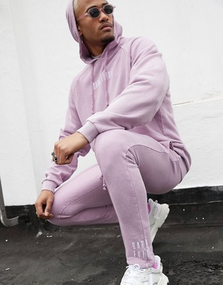 ASOS DESIGN x Dark Future co-ord skinny joggers in purple with embroidered logo