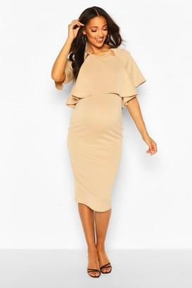 boohoo Maternity Double Layer Midi Dress