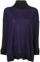 Les Copains roll-neck knitted sweater - women - Virgin Wool - S