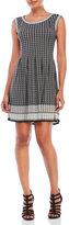 Max Studio Petite Sleeveless Printed Fit & Flare Dress