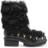 3.1 Phillip Lim Mallory Shearling And Glossed-Leather Boots
