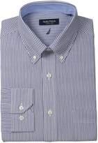 Nautica Men's Engineer Stripe Dress Shirt