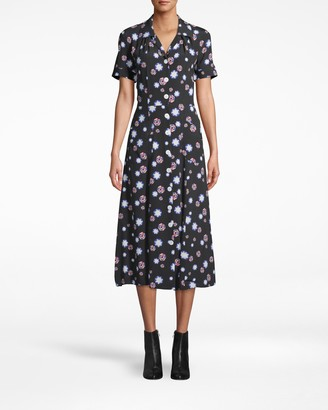 Nicole Miller Shirt Dress With Patch Pockets
