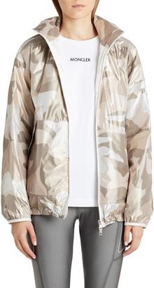 Moncler Menchib Metallic Camo Hooded Jacket