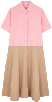 Lee Mathews May Panelled Cotton-poplin Shirt Dress